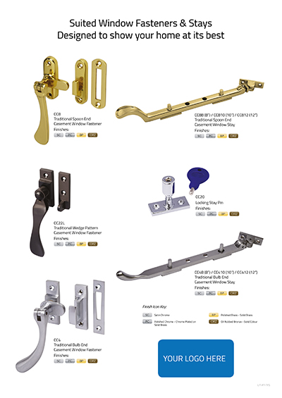 Suited Window Fasteners & Stays