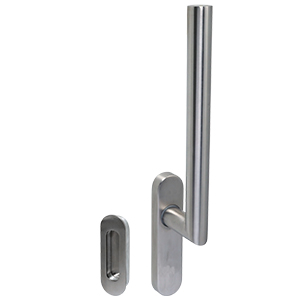 KM760 Satin Stainless Steel blu Lift & Slide Handle