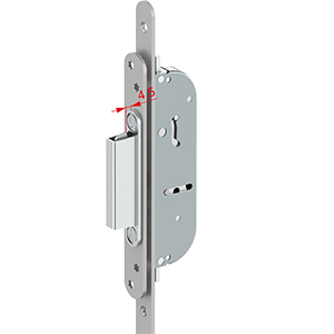 Tricoat Master Door Lock into Tricoat Keep with 4 - 5mm clearance