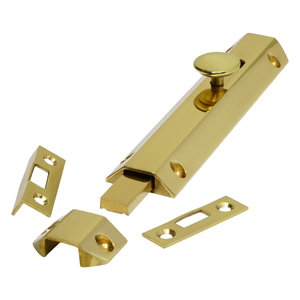 AQ82 Polished Brass Surface Slide Door Bolts