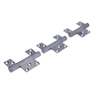 CF5 Polished Stainless Steel CoFold Non-Mortice Inline Hinge Set