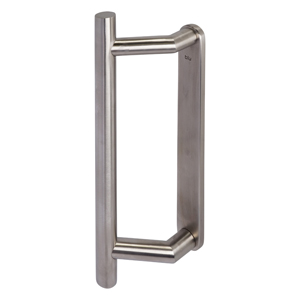 KM905 Straight Sliding Patio Door Handle - Blank Solid Backplate