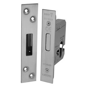 EDBL5025 Satin Satinless Steel Euro Profile Mortice Deadlock to BS3621